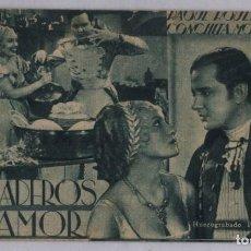 Cine: PROGRAMA TARJETA CINE GRANADEROS DEL AMOR - RAOUL ROULIEN, CONCHITA MONTENEGRO - FOX - PUBLICIDAD. Lote 290030648