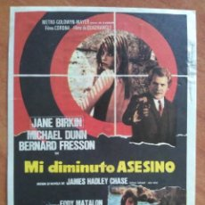 Cine: PROGRAMA DE MANO : LA GRAN GUERRAMI DIMINUTO ASESINO - JANE BIRKIN. Lote 290955363