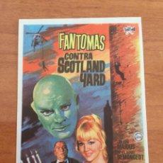 Cine: FOLLETO DE MANO FANTOMAS CONTRA SCOTLAND YARD. Lote 291443798