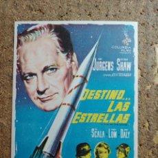 Cine: FOLLETO DE MANO DE LA PELICULA DESTINO LAS ESTRELLAS. Lote 291470138