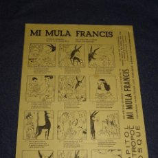 Cine: PROGRAMA DE CINE ORIGINAL - MI MULA FRANCIS AVENTURA PEREGRINA DE UNA MULA PARLANCHINA. Lote 291473948