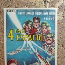 Cine: FOLLETO DE MANO DE LA PELICULA 4 EN EL ESPACIO. Lote 291483023