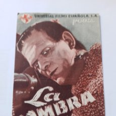 Cine: LA SOMBRA DE FRANKENSTEIN DOBLE 1944. Lote 291484933
