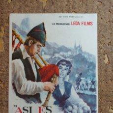 Cine: FOLLETO DE MANO DE LA PELICULA ASI ES ASTURIAS. Lote 291861828