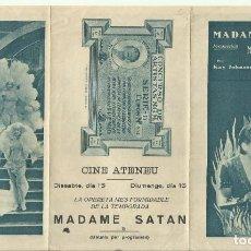 Cine: PTCC 093 MADAME SATAN PROGRAMA TRIPLE MGM KAY JOHNSON REGINALD DENNY CECIL B DEMILLE. Lote 292114483