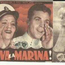 Cine: PTCC 095 VIVA LA MARINA PROGRAMA DOBLE WARNER DICK POWELL RUBY KEELER. Lote 292239608
