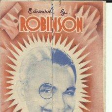 Cine: PTCC 095 EL HOMBRE DE LAS DOS CARAS PROGRAMA DOBLE WARNER EDWARD G. ROBINSON MARY ASTOR DE SABADELL. Lote 292247118