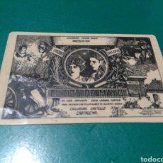 Cine: ANTIGUO PROGRAMA DE CINE MUDO TROQUELADO CALENDARIO DE BOLSILLO. EL DOS DE MAYO. 1928. CARTAGENA. Lote 292390138