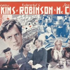 Cine: PTCC 096 LA CIUDAD SIN LEY PROGRAMA DOBLE URUGUAYO MIRIAM HOPKINS EDWARD G. ROBINSON JOEL MCCREA. Lote 292413748