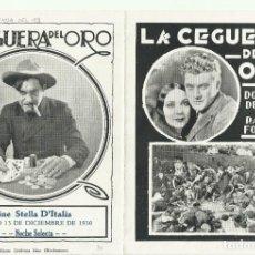 Cine: PTCC 096 LA SENDA DEL 98 PROGRAMA DOBLE URUGUAYO DOLORES DEL RIO RALPH FORBES HARRY CAREY. Lote 292413793