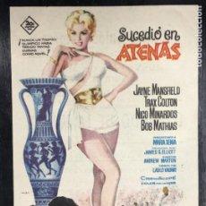 Cine: PTCC 091 SUCEDIO EN ATENAS PROGRAMA SENCILLO JAYNE MANSFIELD JUEGOS OLIMPICOS BOB MATHIAS. Lote 292601248