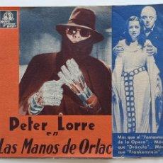 Cine: LAS MANOS DE ORLAC. Lote 292608818