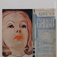 Cine: LA REINA CRISTINA DE SUECIA GRETA GARBO. Lote 292609928