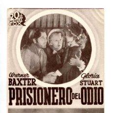 Cine: PRISIONERO DEL ODIO, CON WARNER BAXTER.. Lote 292619123