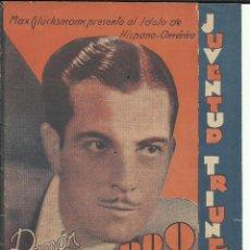 Cine: PTCC 097 JUVENTUD TRIUNFANTE PROGRAMA TRIPLE URUGUAYO RAMON NOVARRO MADGE EVANS FUTBOL. Lote 293152738