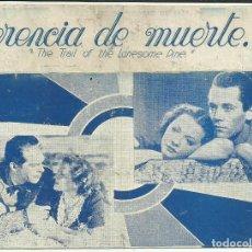 Cine: PTCC 097 CAMINO DEL PINO SOLITARIO PROGRAMA DOBLE URUGUAYO FRED MACMURRAY SYLVIA SIDNEY HENRY FONDA. Lote 293152813