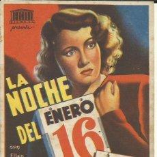 Cine: PTCC 098 LA NOCHE DEL ENERO 16 PROGRAMA SENCILLO MERCURIO ROBERT PRESTON ELLEN DREW AYN RAND. Lote 293153023