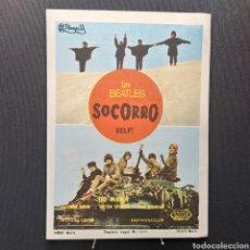Cine: LOS BEATLES, SOCORRO, HELP, LEO MCKERN, KARMAT - VELASCO MADRID, EASTMANCOLOR, UNITED ARTISTS. Lote 293208198
