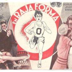 Cine: PTCC 091 EN BAJA FORMA PROGRAMA TARJETA WARNER DOUGLAS FAIRBANKS JEANNETTE FERNEY DE BADALONA. Lote 293244148
