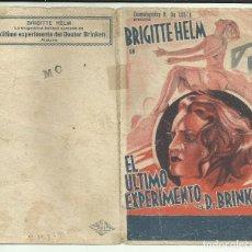 Cine: PTCC 099 EL ULTIMO EXPERIMENTO DEL DR. BRINKEN PROGRAMA DOBLE H DA COSTA BRIGITTE HELM. Lote 293292218