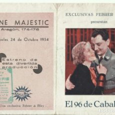 Cine: PTCC 099 EL 96 DE CABALLERIA PROGRAMA DOBLE FEBRER Y BALY LUCIEN BAROUX FERNANDEL PIERRE BRASSEUR. Lote 293305003