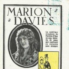 Cine: PTCC 084 EL NUEVA YORK DE ANTAÑO 1923 PROGRAMA DOBLE MARION DAVIES CINE MUDO. Lote 293318813