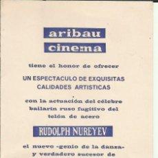 Cine: PTCC 100 NOCHE DE BALLET PROGRAMA DOBLE MERCURIO ARIBAU RUDOLPH NUREYEV MARGOT FONTEYN. Lote 293323123