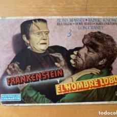 Cine: ANTIGUO PROGRAMA FOLLETO CINE FRANKENSTEIN Y EL HOMBRE LOBO. Lote 293342343