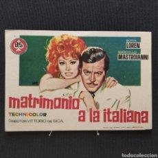 Cine: MATRIMONIO A LA ITALIANA, SOFIA LOREN, MARCELLO MASTROIANNI, VITTORIO DE SICA AS FILMS MELGUIZO LEÓN. Lote 293344428