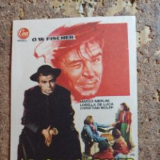 Foglietti di film di film antichi di cinema: FOLLETO DE MANO DE LA PELICULA EL ANGEL DE NAPOLES. Lote 293345168