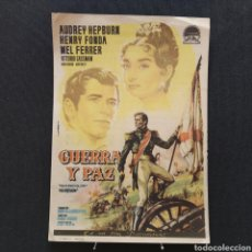 Cine: GUERRA Y PAZ, AUDREY HEPBURN, HENRY FONDA, MEL FERRER, VITORIO GASSMAN, ANITA EKBERG, KING VIDOR. Lote 293345918