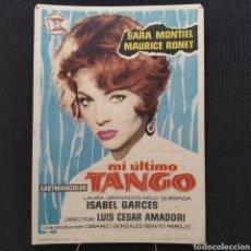 Cine: MI ÚLTIMO TANGO, SARA MONTIEL, MAURICE MRONET, LUIS CESAR AMADORI, CESAREO GONZÁLEZ SUEVIA FILMS. Lote 293346528