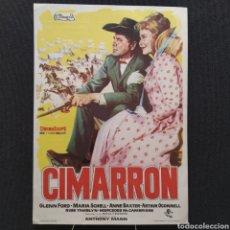 Cine: CIMARRON, GLENN FORD, MARIA SCHELL, ANNE BAXTER, ANTHONY MANN, ARTHUR O'CONNELL, METRO GOLDWYN MAYER. Lote 293348958