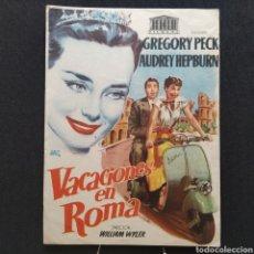 Cine: VACACIONES EN ROMA, GREGORY PECK, AUDREY HEPBURN, WILLIAM WYLER, ILUSTRACIÓN DE JANO, MOTO VESPA. Lote 293350588