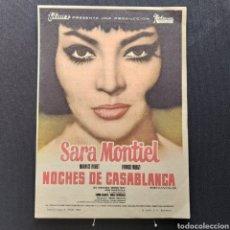 Cine: NOCHES DE CASABLANCA, SARIA MONTIEL, MAURICE RONET, FRANCO FABRICI, JOSÉ GUARDIOLA, FILMAX, BALCÁZAR. Lote 293352763