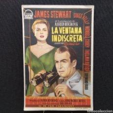 Cine: ALFRED HITCHCOCK, LA VENTANA INDISCRETA, JAMES STEWART, GRACE KELLY, WENDELL COREY, RAYMOND BURR. Lote 293426948