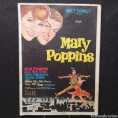 Cine: WALT DISNEY, MARY POPPINS, JULIE ANDREWS, DICK VAN DIKE, DAVID TOMLINSON, GLYNIS JOHNS. Lote 293427483