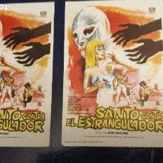 Cine: SANTO CONTRA EL ESTRANGULADOR, CON SANTO EL ENMASCARADO DE PLATA, LOTE 2 PROGRAMAS. S/P.. Lote 27033452