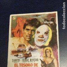 Cine: EL TESORO DE MOCTEZUMA, CON SANTO EL ENMASCARADO DE PLATA Y JORGE RIVERO. IMPECABLE.. Lote 293820558