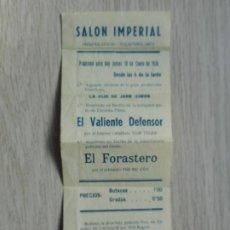 Cine: ANTIGUO PROGRAMAS.PELICULAS.SALON IMPERIAL.SIERPES.SEVILLA 1936.. Lote 293864373