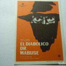 Cine: PROGRAMA EL DIABOLICO DR.MABUSE LEX BARKER. Lote 293874638