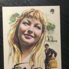 Cine: EVA - PROGRAMA DE CINE MATARÓ C/P 1958. Lote 202687853