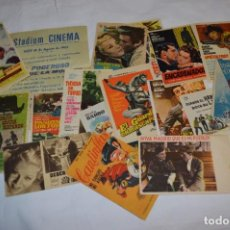 Cine: LOTE FOLLETOS DE MANO ANTIGUOS/VARIADOS / ALGUNOS CON PUBLICIDAD EN EL REVERSO ¡MIRA FOTOS/DETALLES!. Lote 294453658