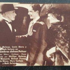 Cine: LOS HOMBRES DEBEN PELEAR - PROGRAMA DE CINE - AÑOS 30 - METRO GOLDWYN MAYER - PHILIPS HOLMES.. Lote 294498148