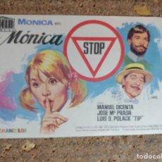 Cine: FOLLETO DE MANO DE LA PELICULA MONICA STOP. Lote 294810728