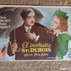 Cine: FOLLETO DE MANO DE LA PELICULA EL INOLVIDABLE SR. DUBOIS. Lote 294811363