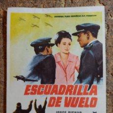 Cine: FOLLETO DE MANO DE LA PELICULA ESCUDRILLA DE VUELO. Lote 294811788