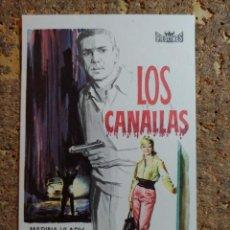 Cine: FOLLETO DE MANO DE LA PELICULA LOS CANALLAS. Lote 294811908