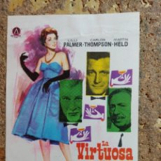 Cine: FOLLETO DE MANO DE LA PELICULA LA VIRTUOSA MRS. CHENEY. Lote 294812328