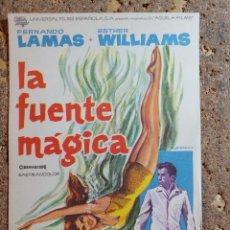 Cine: FOLLETO DE MANO DE LA PELICULA LA FUENTE MAGICA. Lote 294812518
